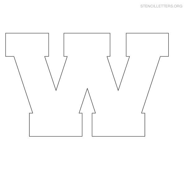 Stencil Letter Block W  Letter Templates    Stencil
