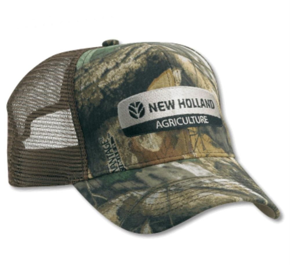 38cda84e2 New Holland Camo Timber Mesh Back Cap | Adult New Holland Clothing ...