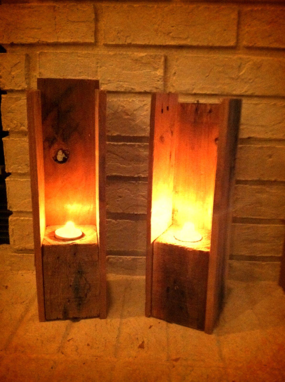 Simple Tea Candle Holders Pallets Pallet