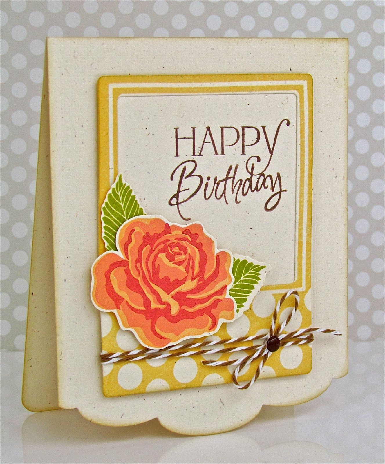 Pretty periwinkles papertrey birthday celebration card