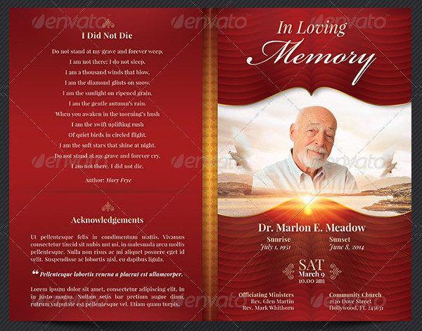 Funeral Program Templates  Funeral Program Templates