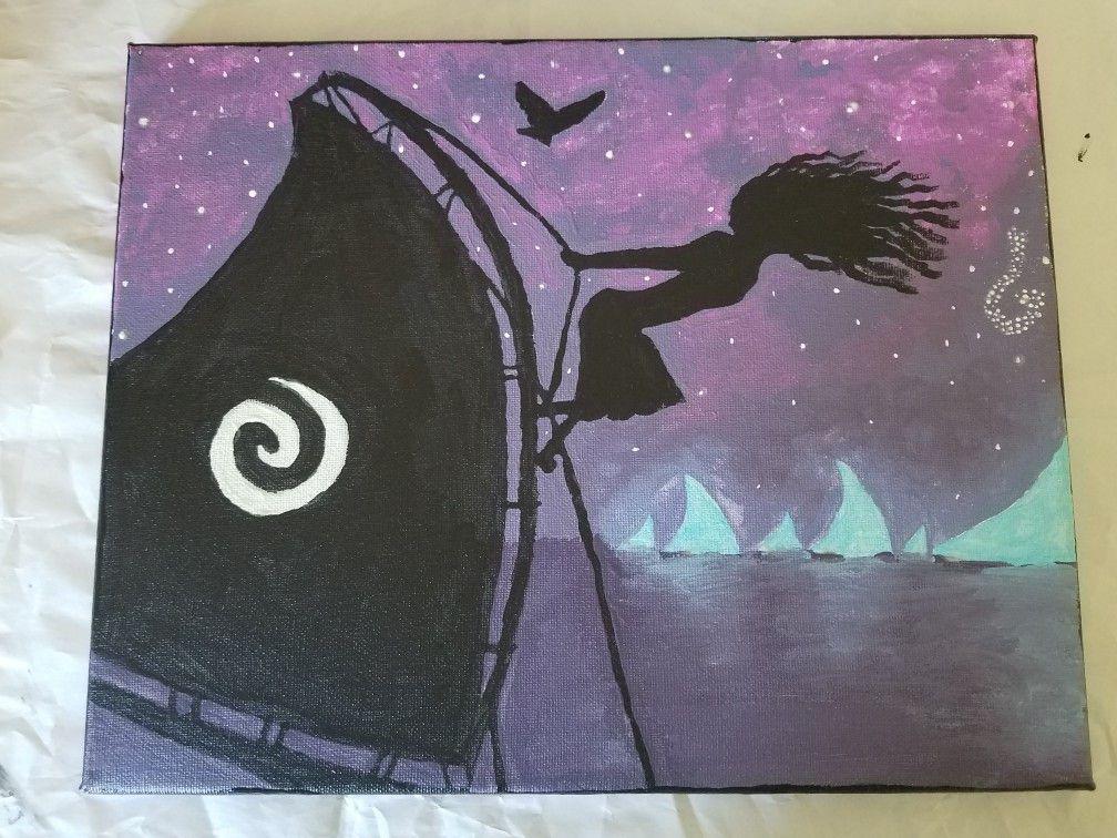 Moana Painted Canvas Disney Canvas Art Disney Canvas Paintings
