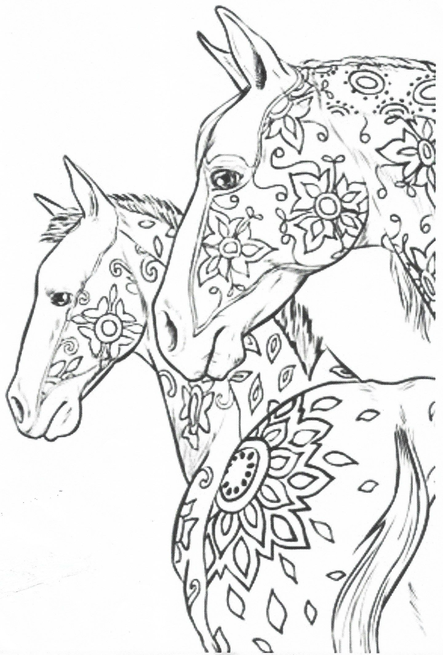 Pin by Wanda Twellman on Coloring Horses | Horse coloring ...