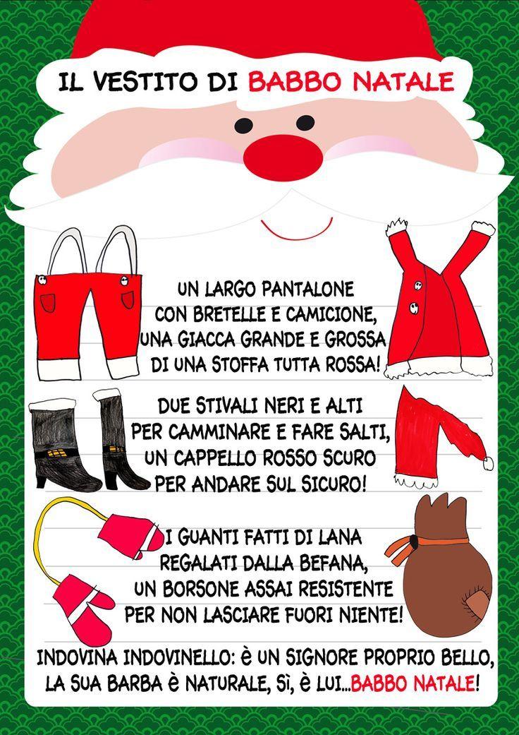 Filastrocca Di Babbo Natale.Filastrocca Babbo Natale Bambini Di Natale Natale Filastrocche