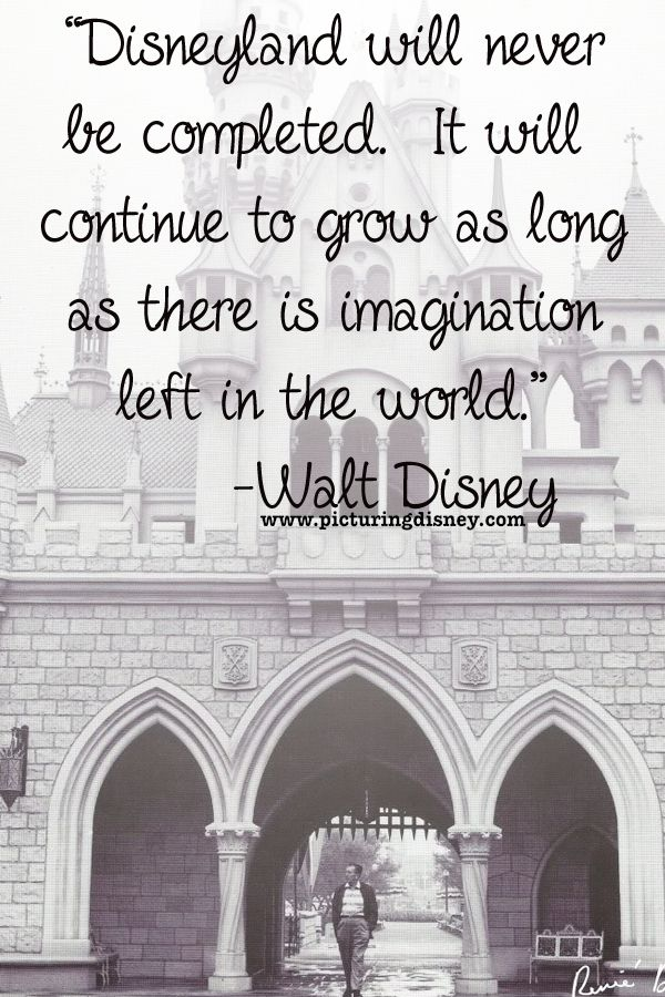 one mans imagination dont you tell me one person cant make a difference walt disney quote disneyland