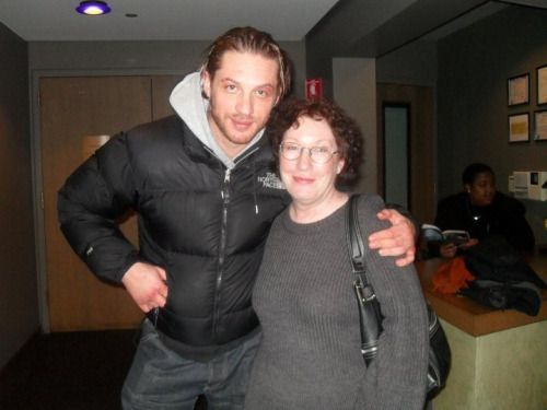 Tom meets Susan Higney at the Goodman Theatre for The Long Red Road stage production in Chicago.