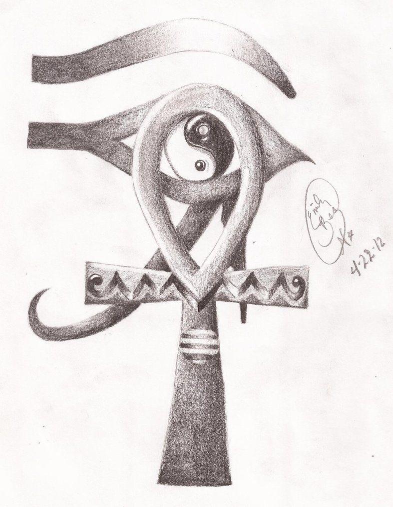 Egyptian ankh and eye of horus yin yang by miss cellaneous23 egyptian ankh and eye of horus yin yang by miss cellaneous23 funny because biocorpaavc