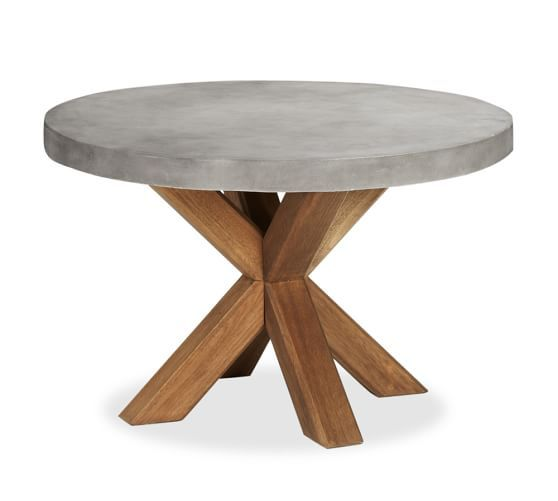 Abbott Concrete Top Round Fixed Dining Table Amp Torrey