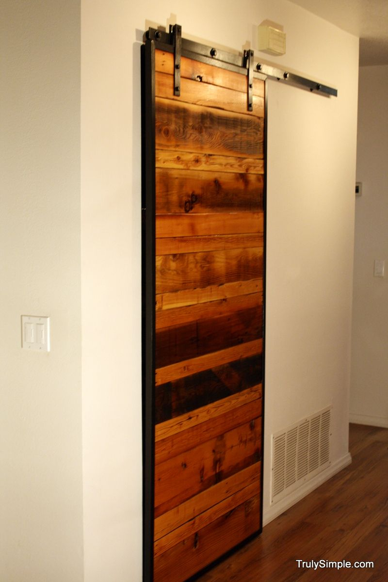 Diy Sliding Wood Door It D Be Awesome To Find An Old Barn Door To