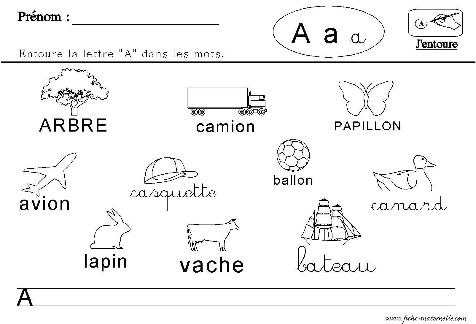 Lecture Des Lettres De L Alphabet Lettres En Maternelle Lettre A Maternelle