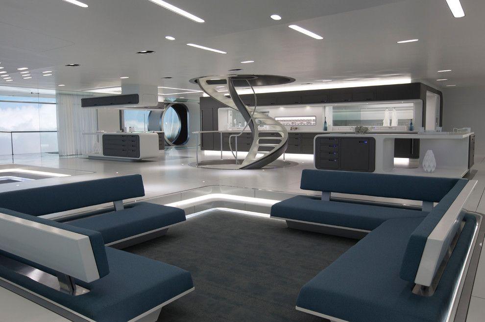 Futuristic Minimalist Living Room Design