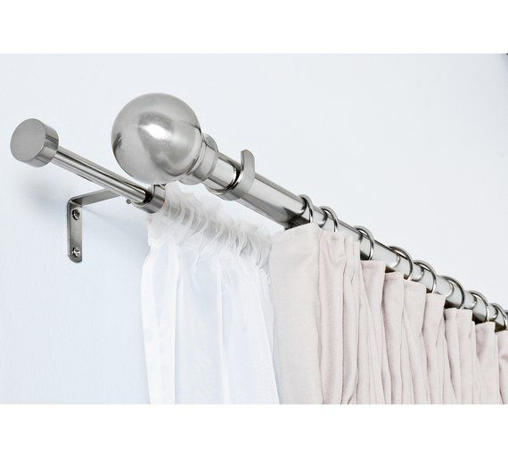 Home Extendable Double Curtain Volie Pole S Steel At Argos Co