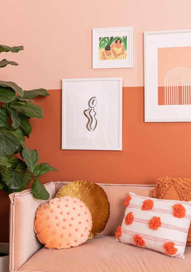 Color Adventures A Rust Living Room Via Oh Joy Living Room Wall Color Room Wall Colors Living Room Orange #peach #living #room #decor
