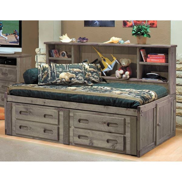 Cheyenne Driftwood Full Roomsaver Capitain S Bed Full Bed With