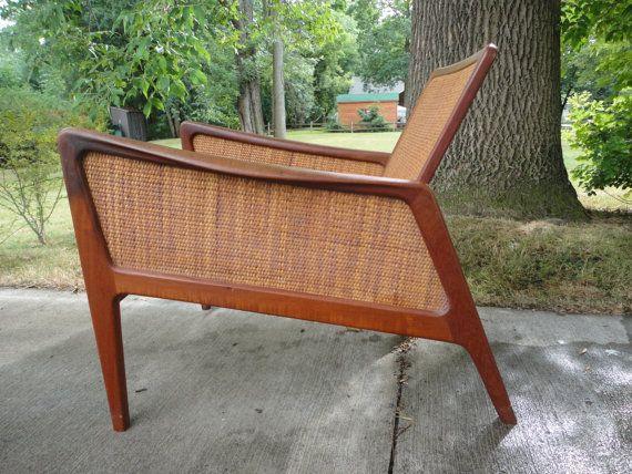 Delicieux John Stuart Mid Century Modern Chair Wood Vintage Lounge Sculptural Danish  Cane Rosewood Walnut Teak Missoula