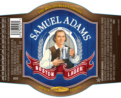 Beer Labels Samuel Adams Rock Art GearyS Beer Here  Samuel Adams