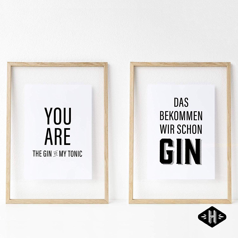 Verschiedene Poster Set S Gin Tonic 4 X Din A4 Auch Mit