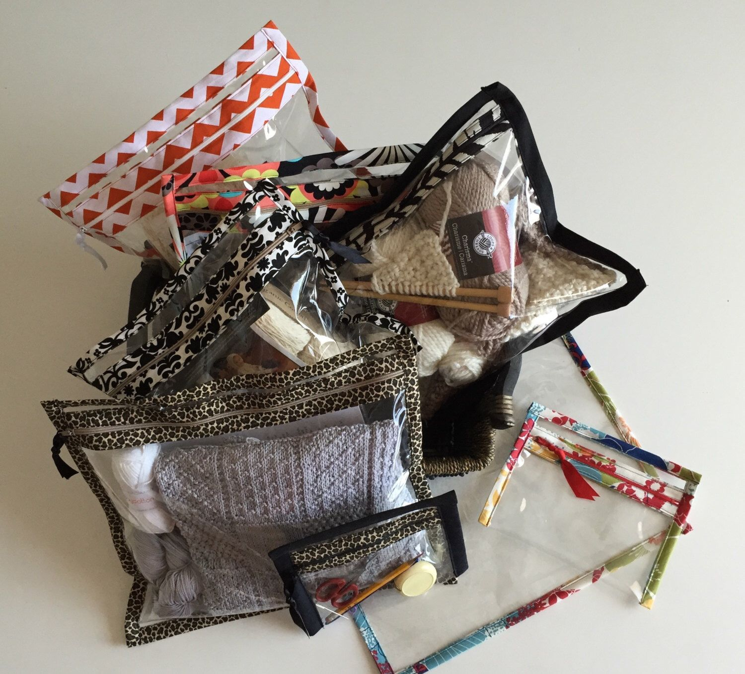 A personal favorite from my Etsy shop https://www.etsy.com/listing/234552693/project-bags-set-of-3
