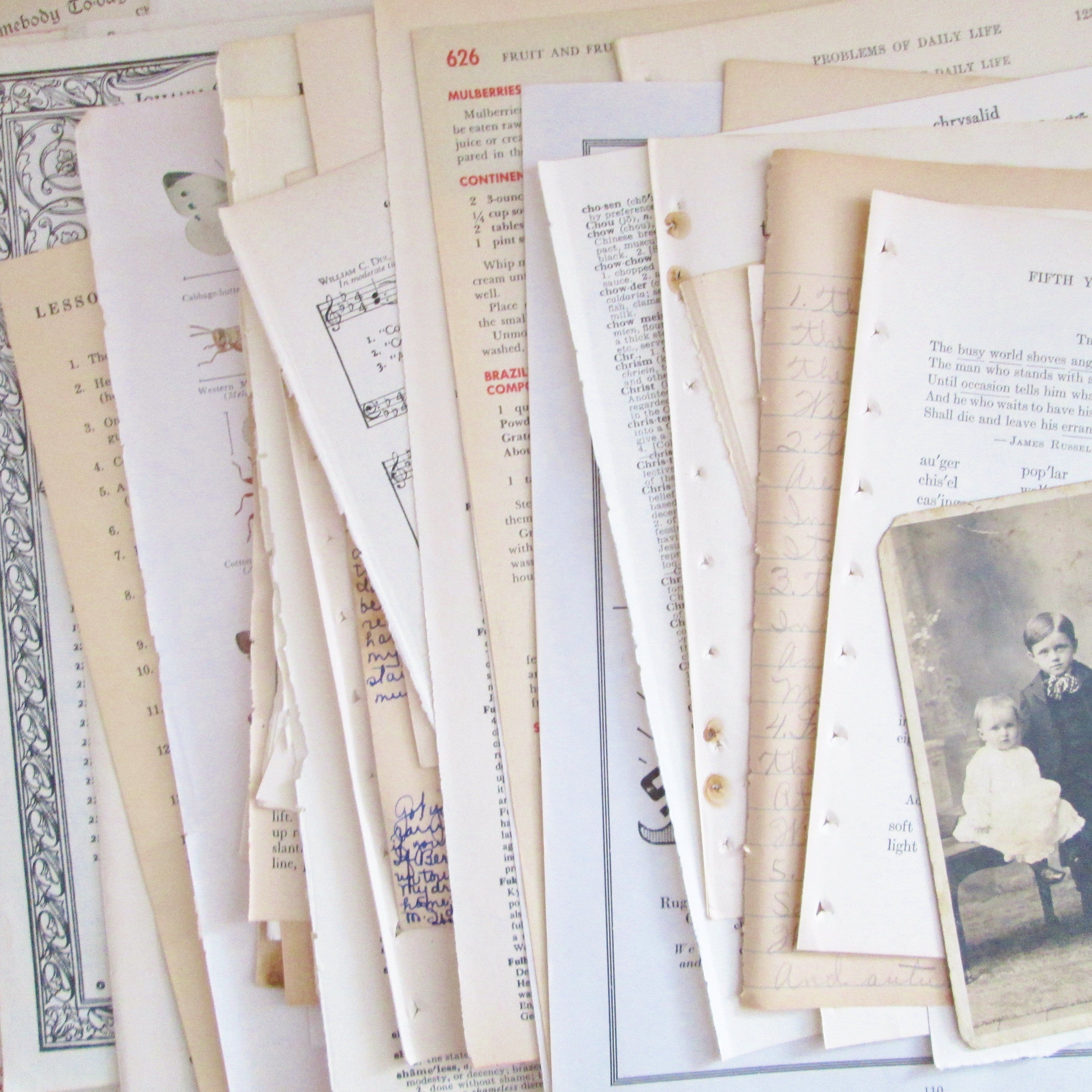 Vintage Antique Music Paper 20 Pages Instrumentral Lyrical Etsy Paper Ephemera Vintage Paper Paper Book