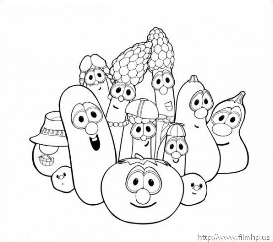 veggie tales coloring pages printable for kids knowledgeable - Veggie Tales Coloring Pages