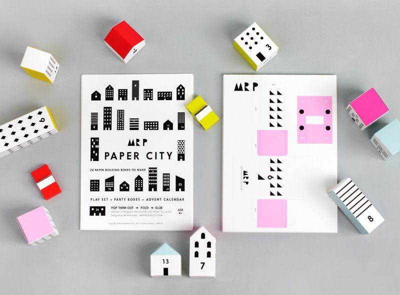 Paper City Advent Calendar Advent calendars, Crafty and Craft