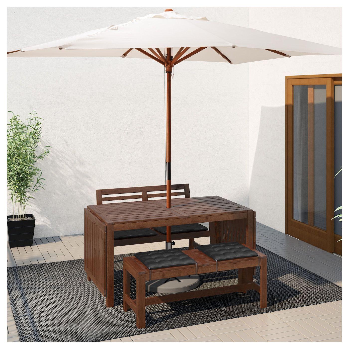 Applaro Tisch 2 Banke Aussen Braun Las Stuhlpolster Tisch Und