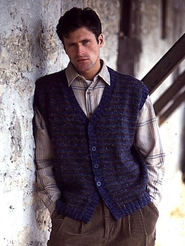 Free Pattern Classic Earthy Knit Vest Pattern For Men Crochet