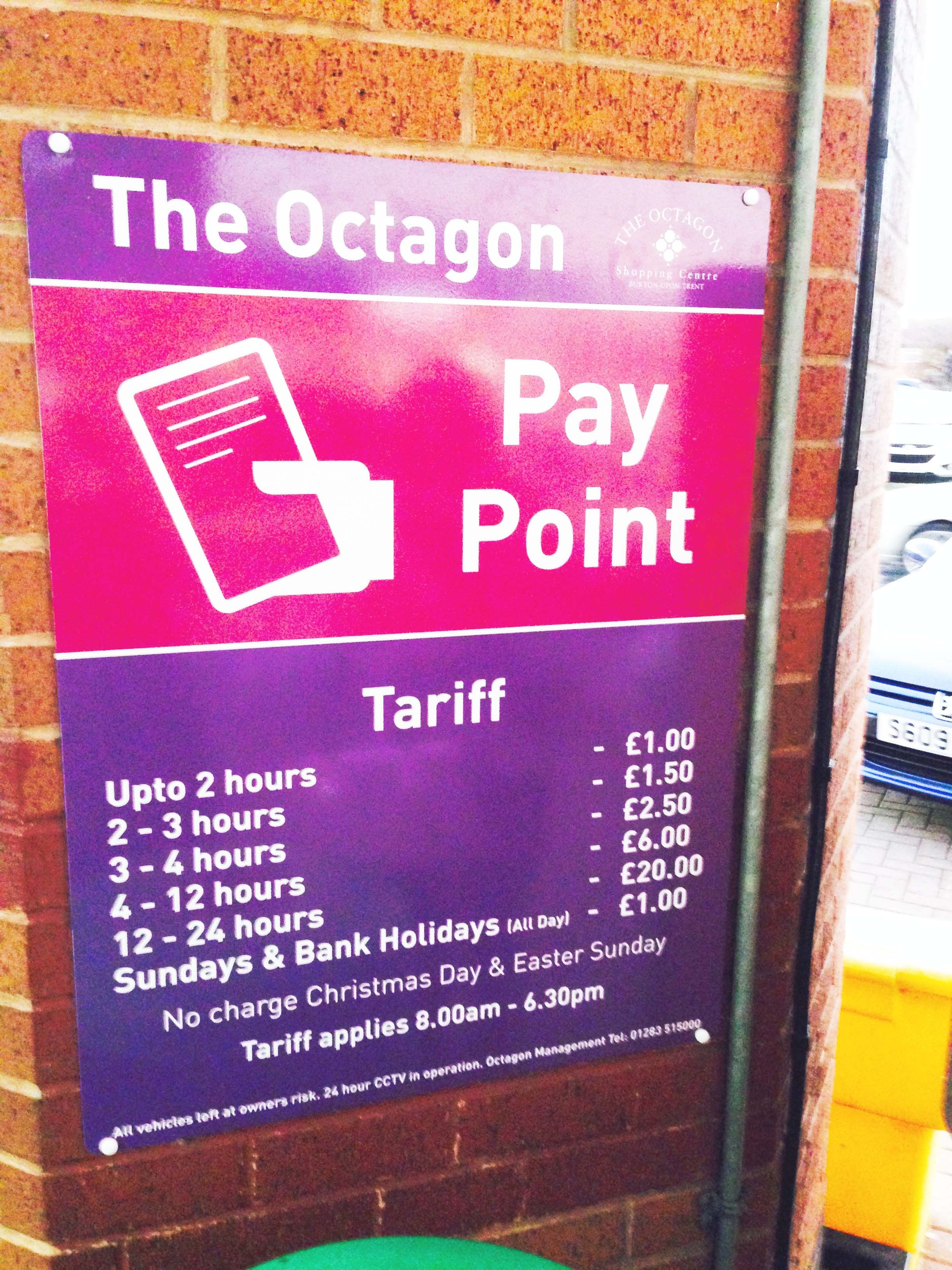 Has Any One Seen The Fetching New Octagon Car Park Signs