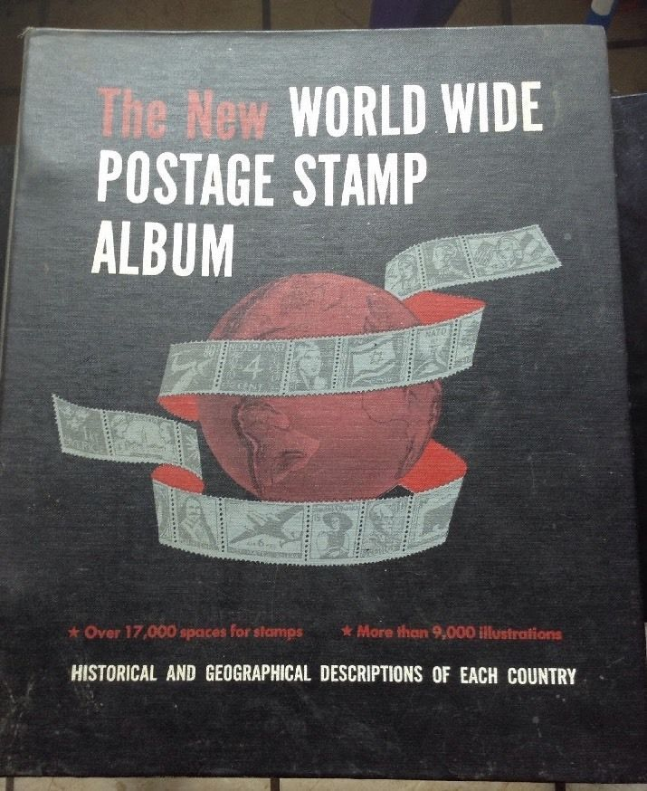 Vintage Minkus The New World Wide Postage Stamp Album 1963