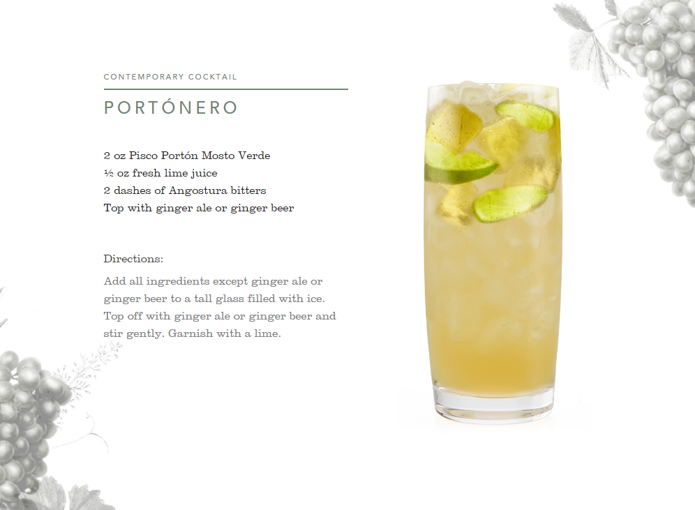 A versatile and mixable white spirit, get ready to experience a whole new world with Pisco Portón's bold cocktails.