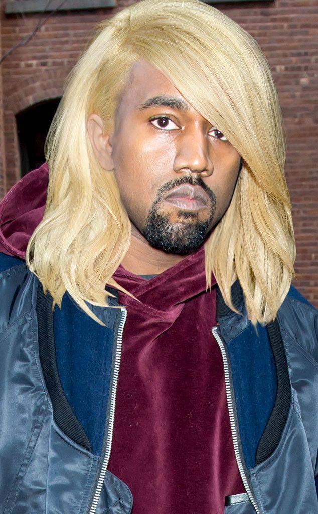 Kanye West From Kardashian Hair Swap Kim S Blond Bob On Other Family Members Kardashian Hair Blonde Bobs Kardashian