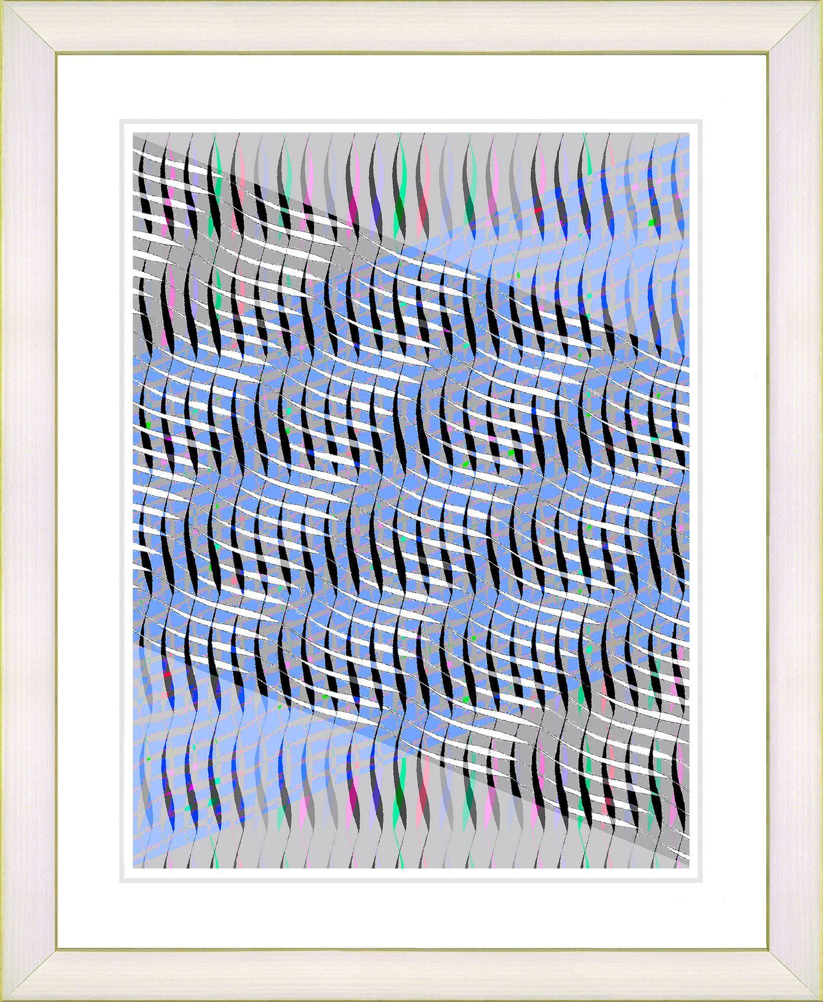 Pastel placidus blue by zhee singer framed fine art giclee