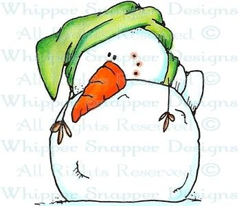 WHIPPER SNAPPER DESIGNS - - - Forlorn Snowman - Snowmen Images - Snowmen - Rubber Stamps - Shop