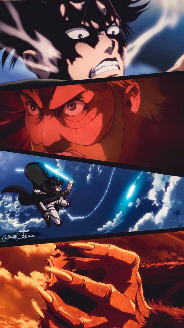Levi Vs Beast Titan Attack On Titan Fanart Attack On Titan Levi Attack On Titan Anime