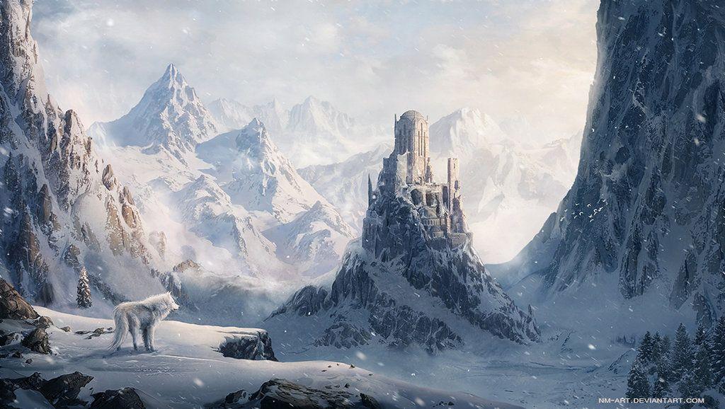 Winter Castle By Nm Art On Deviantart Fantasy Landscape Fantasy Castle Winter Landscape Painting