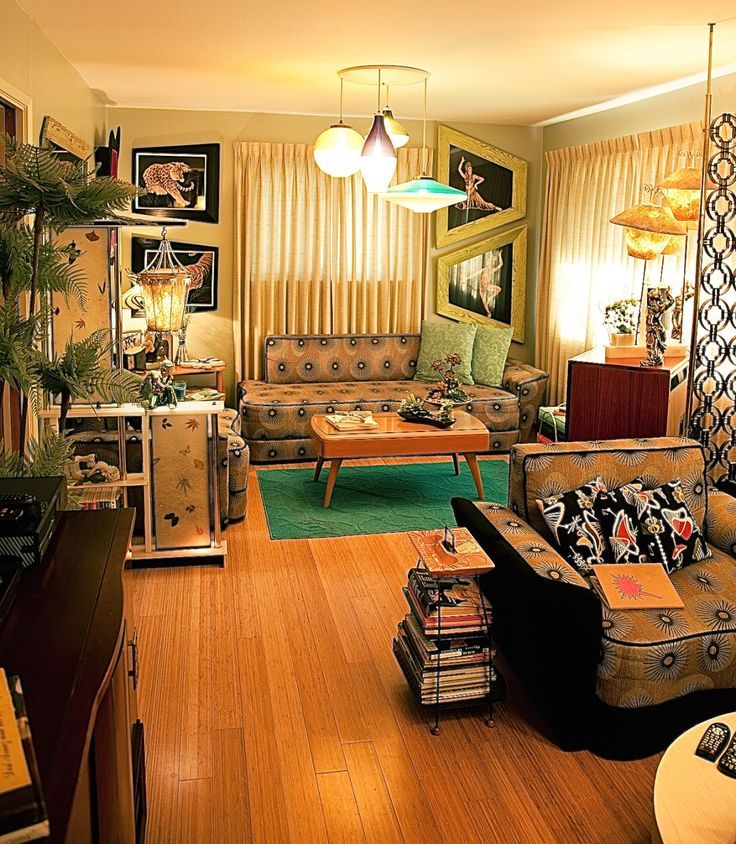 Image result for 1950\'s atomic living room in 2019 | Retro ...