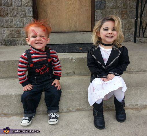 Chucky and Bride of Chucky - Homemade Costumes for Kids  sc 1 st  Pinterest & Chucky and Bride of Chucky - Halloween Costume Contest at Costume ...