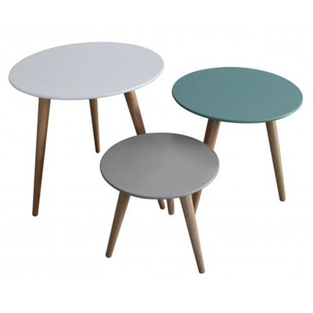 Table Gigogne La Redoute.Set 3 Tables Gigognes Stockholm Inwood La Redoute Mobile