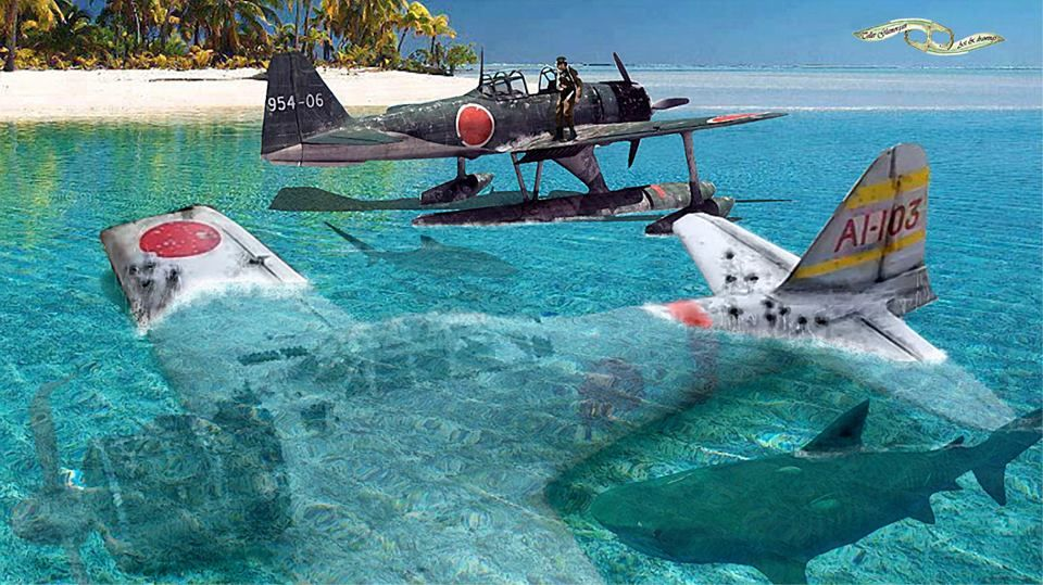 Japanese Rescue Pacific Ocean 1943 Military Aircraft