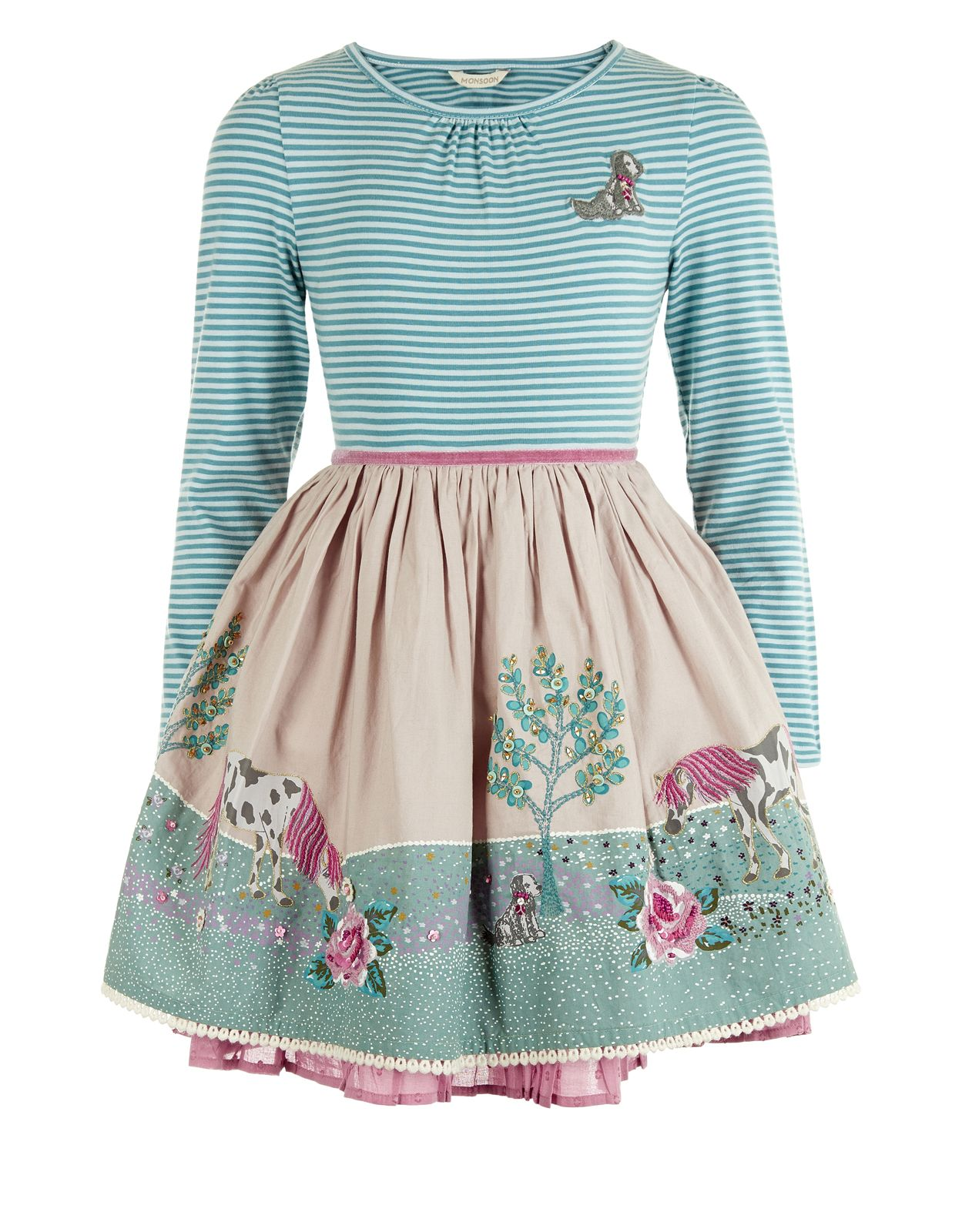Rosalie Horse Dress | Multi | Monsoon | Children\'s fashion 2 ...