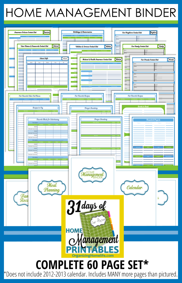 Recipe Binder Printable Kit is part of Household Organization Printables - This 19 page Recipe Binder Printable Kit is perfect for organizing your family's favorite meals and recipes  Make meal planning simple and take the work out of remembering meals your family loves  See more details below