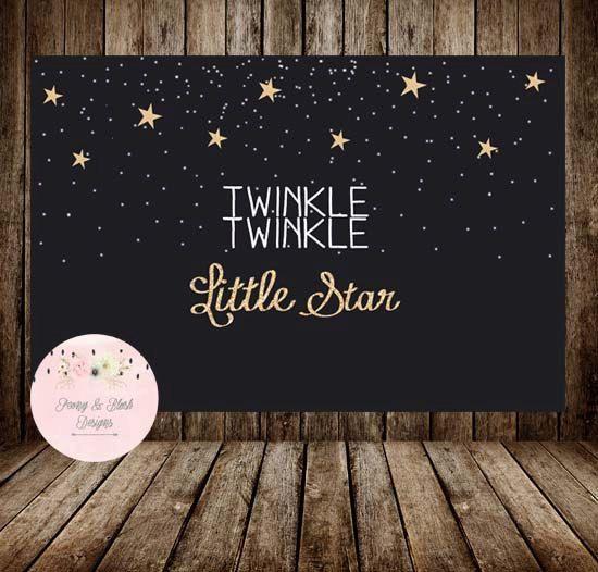 Digital Twinkle Twinkle Little Star Backdrop Twinkle