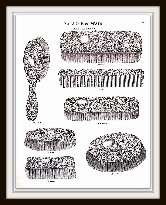 1968 Vintage Book Print Hair Brush Hat Brush Comb Cloth Etsy Hair Brush Vintage Book Book Print