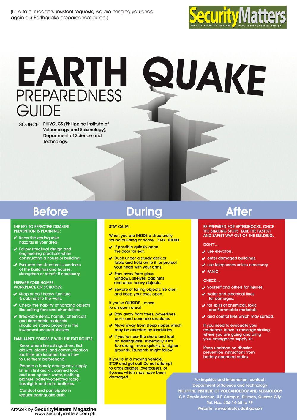 earthquakepreparedness from the Philippine Institute of