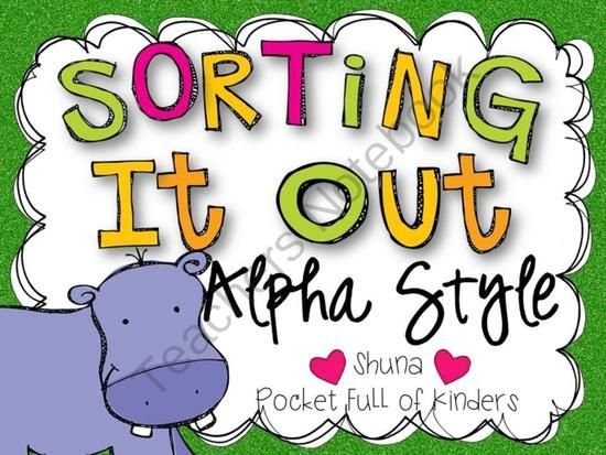 Sorting It Out: Alpha Style from Pocket Full of Kinders on TeachersNotebook.com (79 pages)  - A great way to practice those alphabet skills.