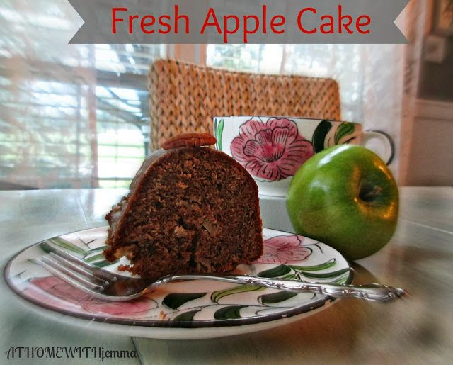 AT HOME WITH JEMMA: Fresh Apple Cake