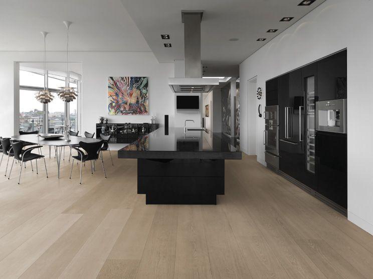 Eiken houten vloer brede en lange planken cm breed en tot