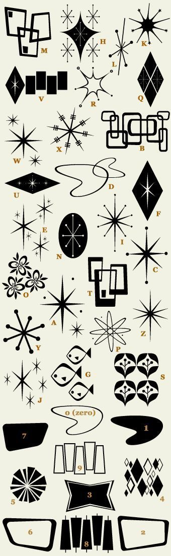 Image Result For Early 50 S Wingdings Retro Font Retro Design Elements