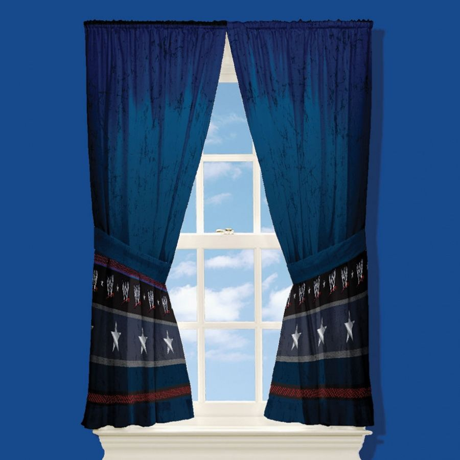 Room Ideas · His Curtains. I Just Added Them To The Red Ones He Already  Had. WWE