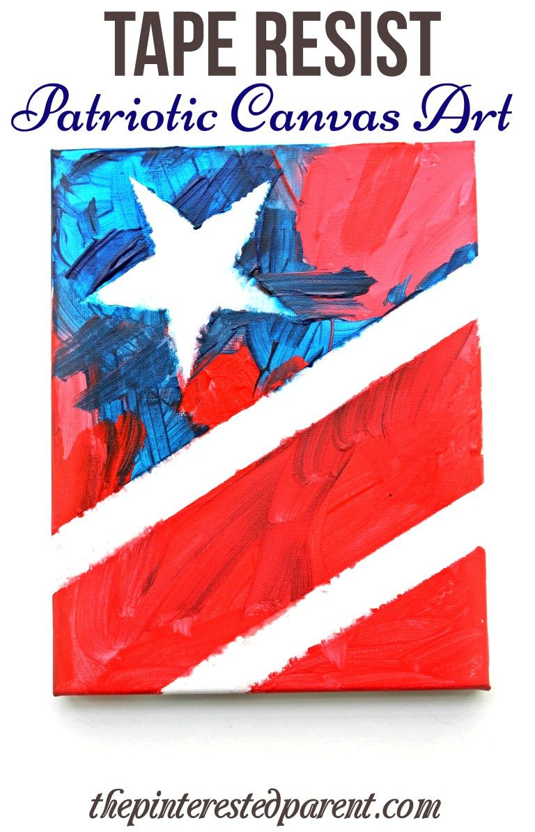 patriotic canvas art tape resist painting of the stars and patriotic canvas art tape resist painting of the stars and stripes for kids